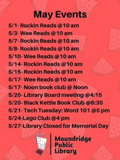 May Library events