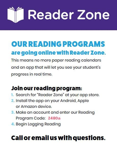 Reader Zone Flyer